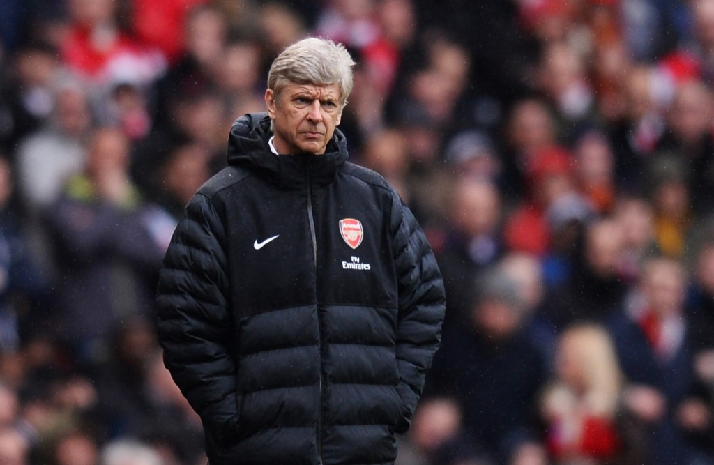 LONDON, ENGLAND - APRIL 13: Arsenal's manager Arsene Wenger looks on during the Barclays Premier League match between Arsenal and Norwich City at Emirates Stadium on April 13, 2013 in London, England. (Photo by Mike Hewitt/Getty Images)
